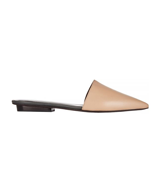 Narciso Rodriguez Athena Leather Point-Toe Flats