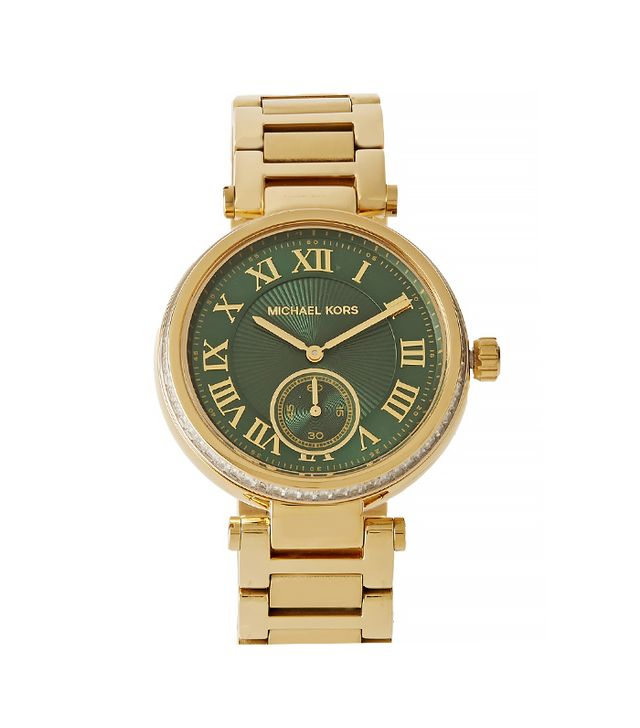 Michael Kors Skylar Crystal-Embellished Gold-Tone Watch