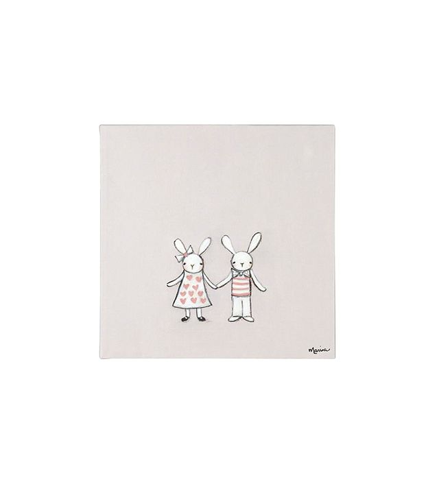Land of Nod Bunny Love Wall Art