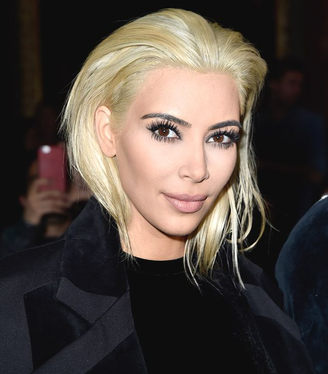 Kim Kardashian Goes PLATINUM Blonde—See the Photo!