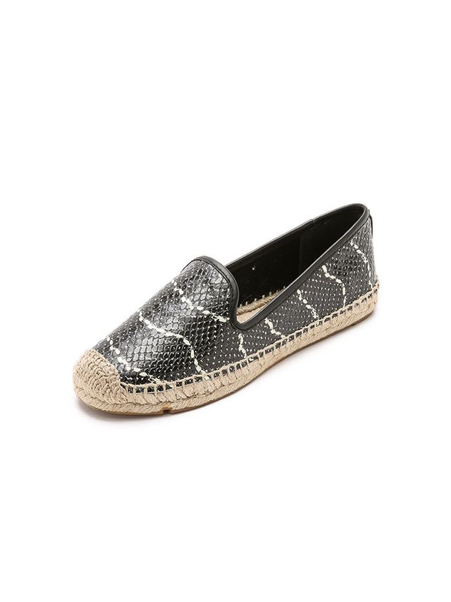 Tory Burch Snake Print Loafer Cut Espadrilles