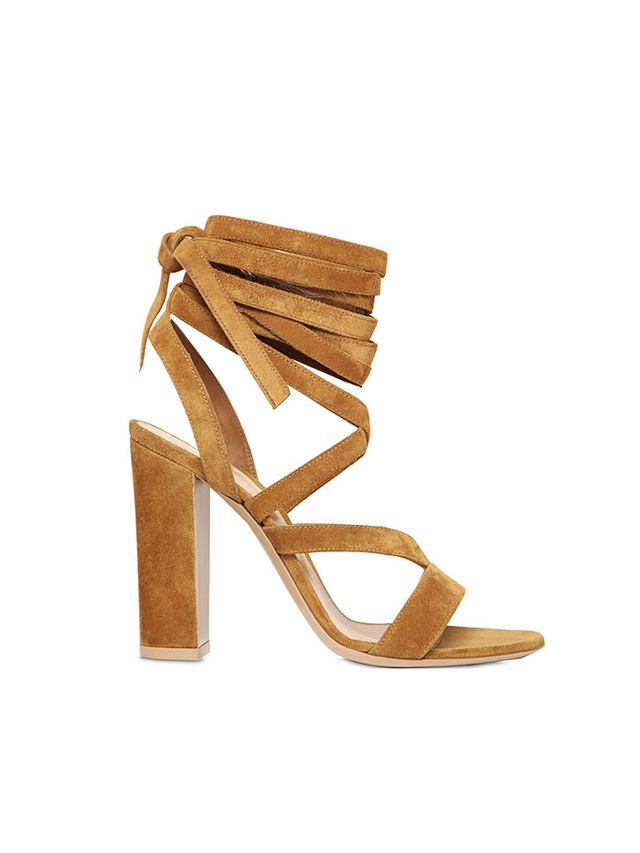 Gianvito Rossi Suede Lace-Up Sandals