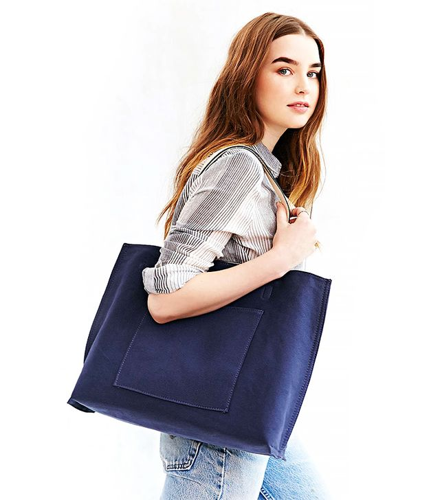 Urban Outfitters Reversible Canvas + Leather Tote Bag