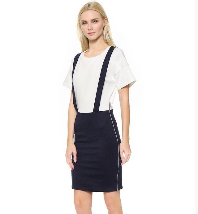 Band of Outsiders Trompe l'Oeil Suspender Dress