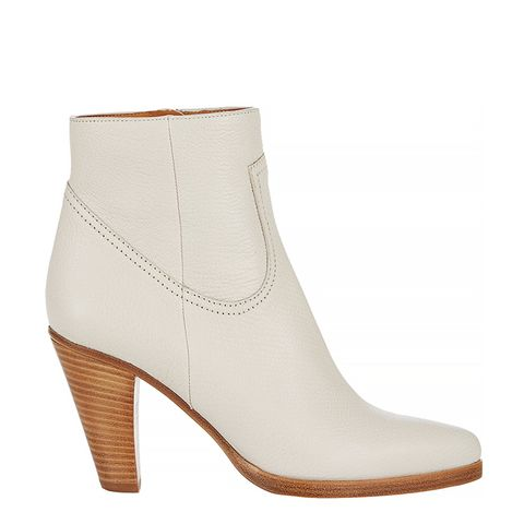 Stacked-Heel Ankle Boots