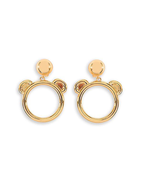 Moschino,Moschino Teddy Bear Bijoux Hoop Earrings