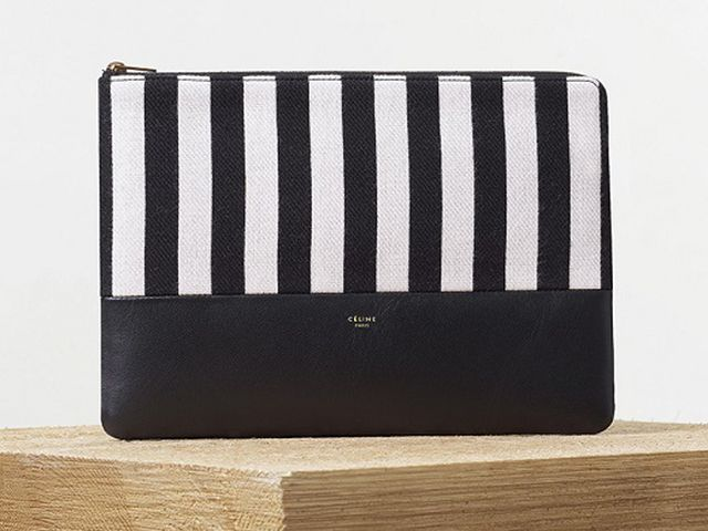 Céline Pouch in Black and Natural