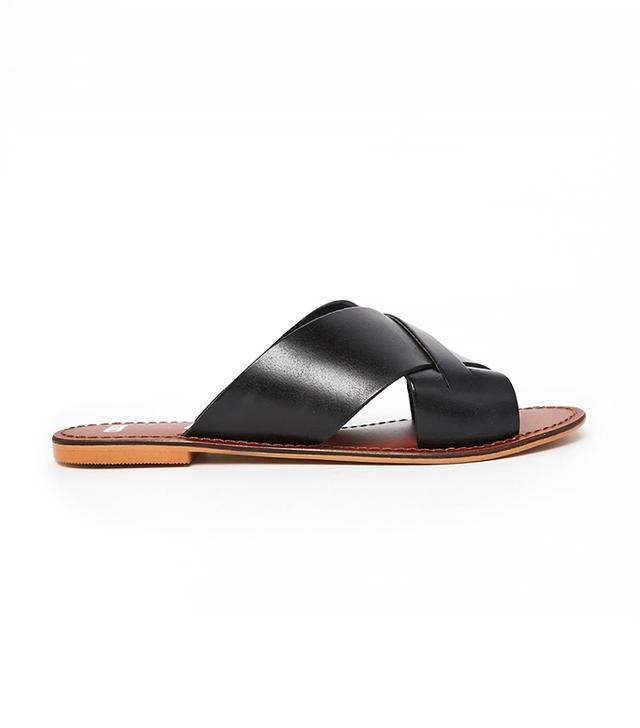 ASOS FLICK Leather Sliders