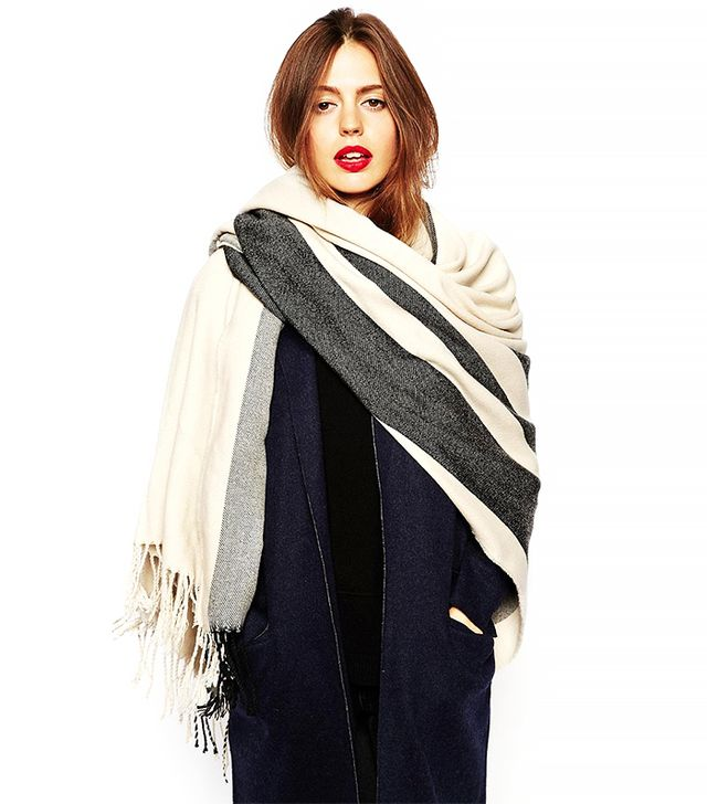 ASOS Oversized Scarf With Stripes