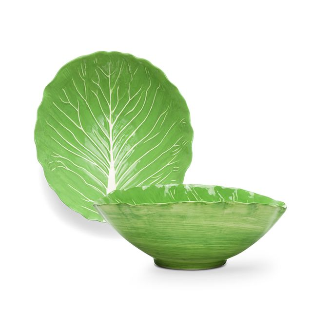 Dodie Thayer for Tory Burch Lettuce Ware Serving Bowl