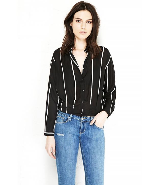 Lucy Paris Vertical Striped Shirt