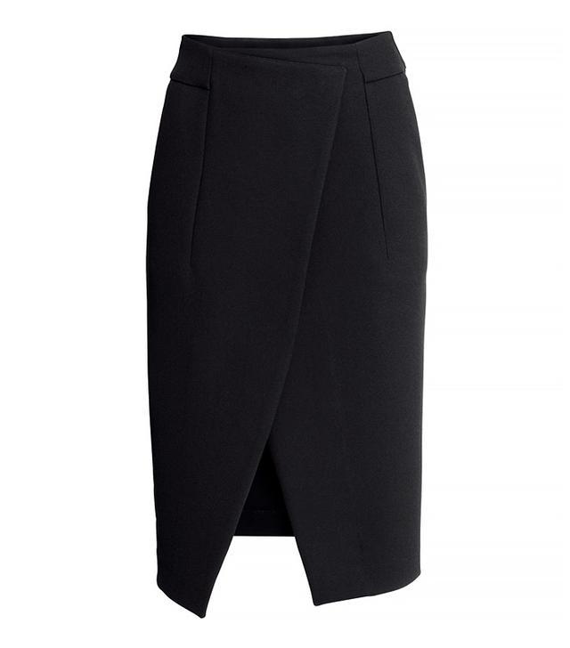 H&M Wrapover Crêpe Skirt