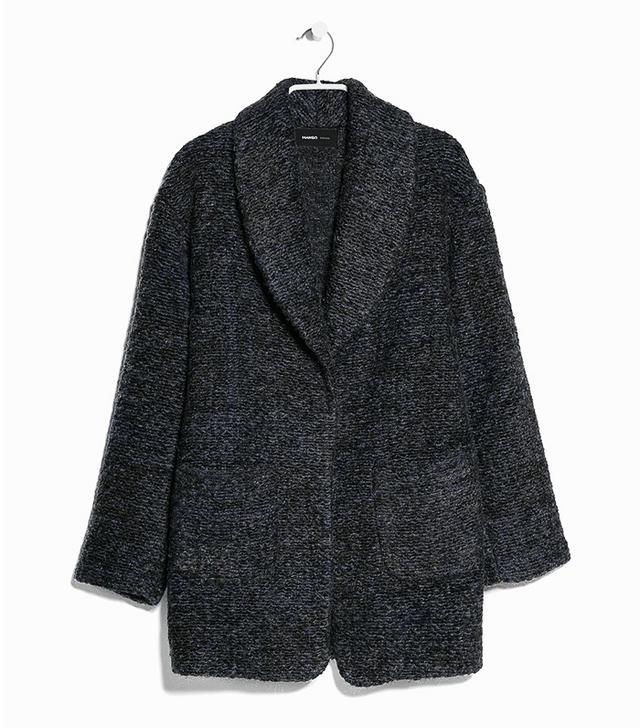 Mango Bouclé Mohair-Blend Coat