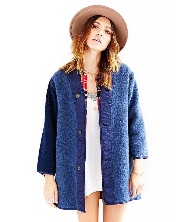 Urban Renewal Recycled Overdyed Wool Jacket