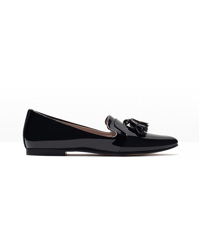 Zara Patent slipper