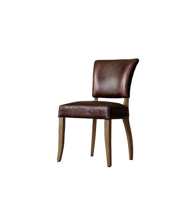 Restoration Hardware Adèle Leather Side Chair