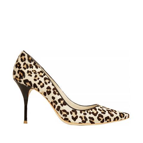 Lola Leopard-Print Calf Hair Pumps