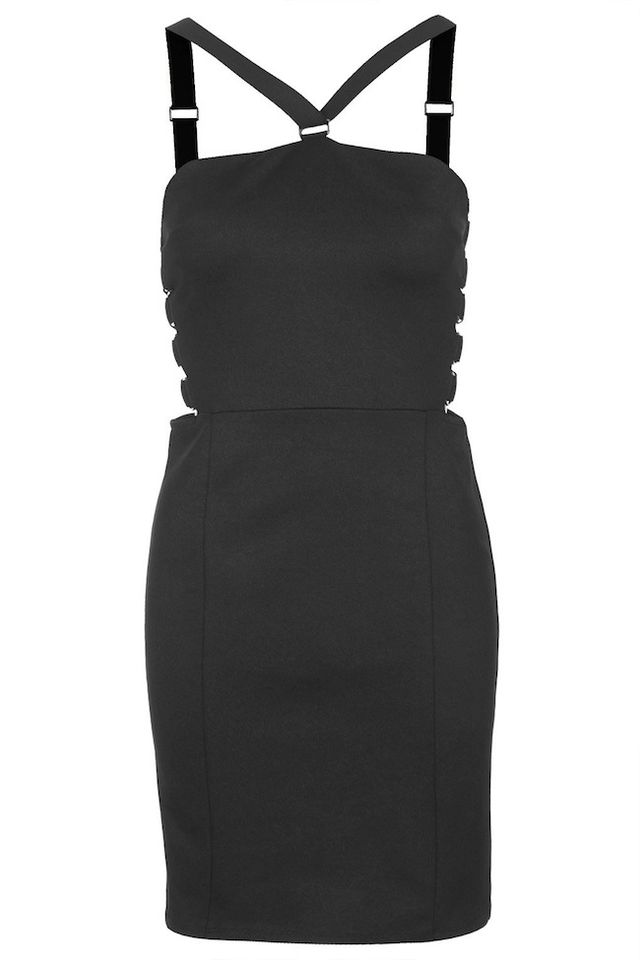 Topshop Strappy D-Ring Bodycon Dress