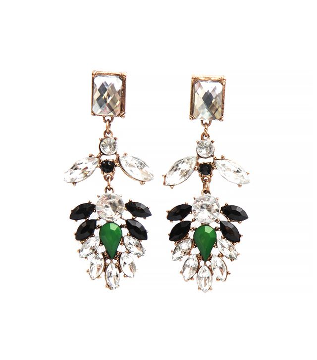 Ash and Willow Crystal Cascade Earrings