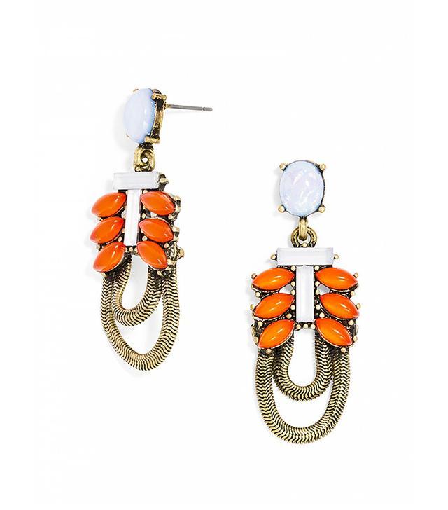 Bauble Bar Opal Snake Chain Drop Earrings