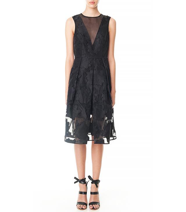 Tibi Ayame Fil Coupe Midi Dress