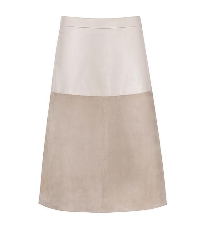 Reiss Hayden Textured Leather Skirt