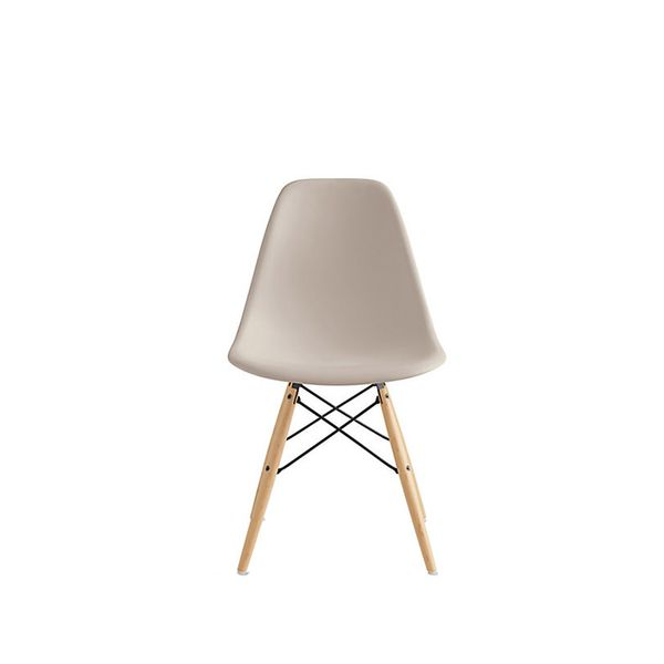 Charles and Ray Eames for Herman Miller Moulded Plastic Dowel-Leg Side Chair