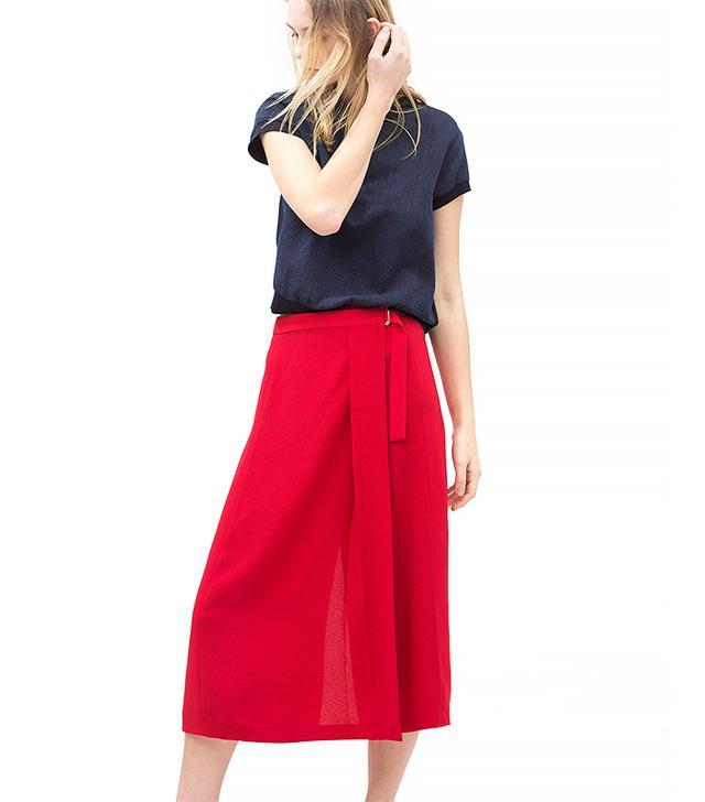 Zara Buckle Waist Sarong Skirt