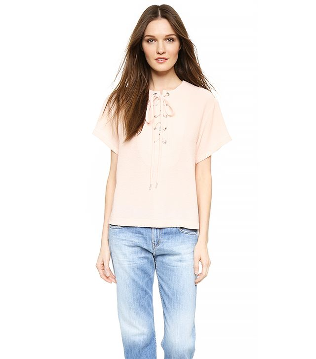 See by Chloé Lace Up Front Top