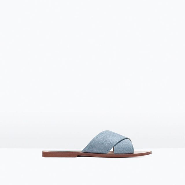 Zara Crossover Leather Sandals