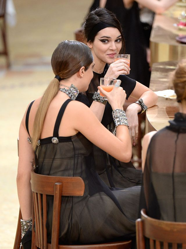 Kendall Jenner & Cara Delevingne Had Quite the Coffee Break in Chanel This Morning