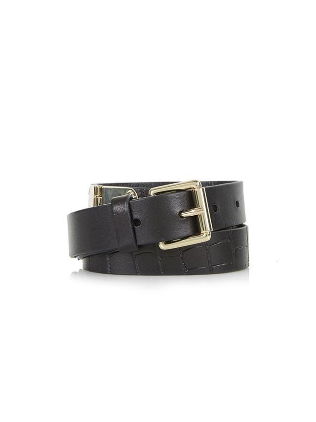 Topshop Leather Hinge Belt