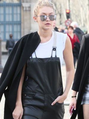 How to Actually Pull Off Leather Overalls, With Gigi Hadid