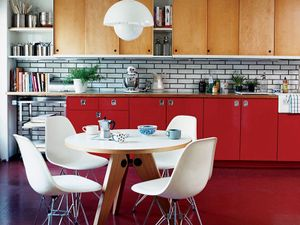 Shop the Room: A Bold Red Retro Kitchen