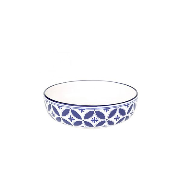 obremesa by Greenheart Blue Fez Wide Pasta Bowl