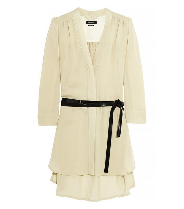 Isabel Marant Rivera Belted Voile Mini Dress