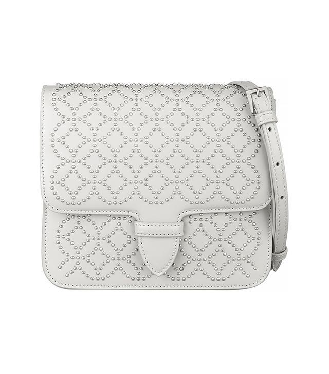 Alaia Arabesque Mini Studded Leather Shoulder Bag