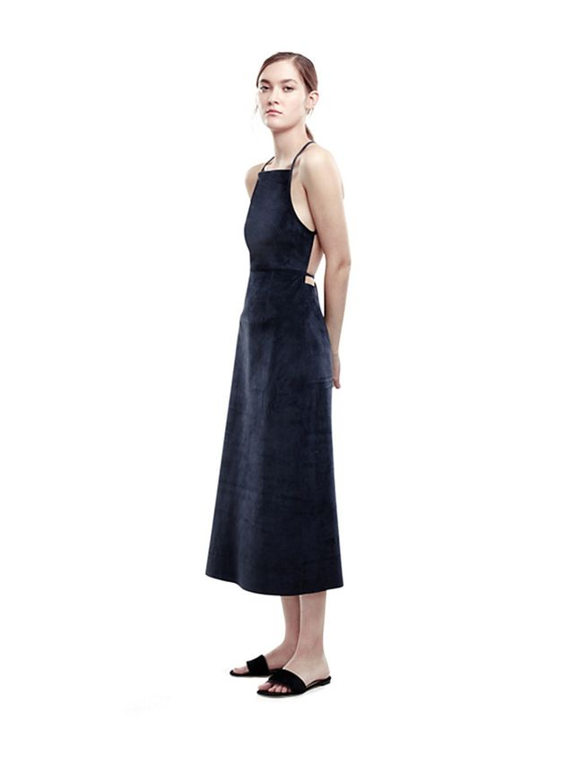 Theory Lilita Dress in Classic Suede