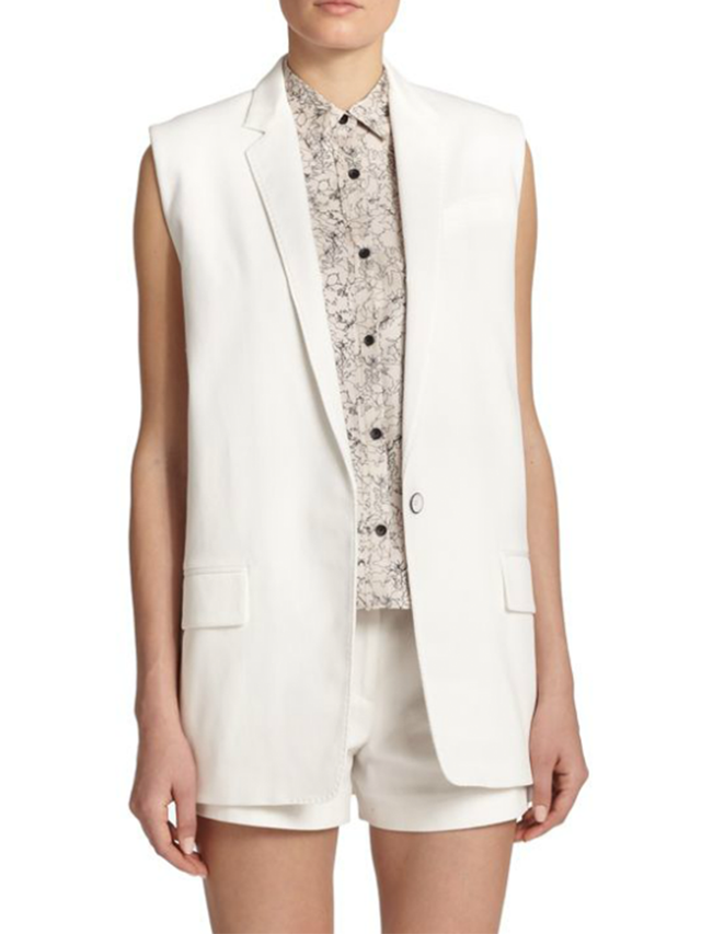 Rag & Bone Stretch-Cotton Francois Vest