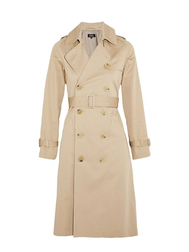 A.P.C. Atelier De Production Et De Création Greta Cotton-Garbadine Trench Coat