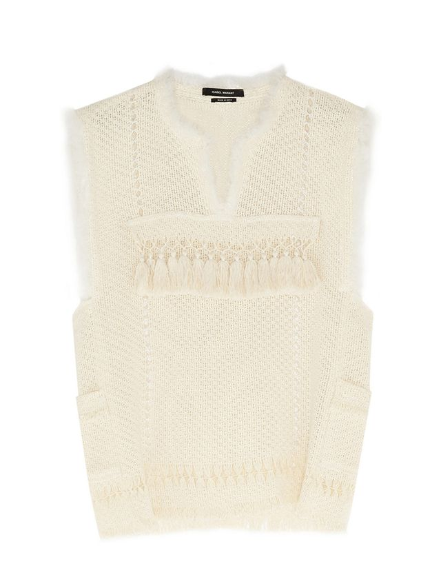 Isabel Marant Tacey Crochet Cotton-Blend Top