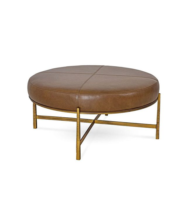 One Kings Lane Renzo Leather Ottoman