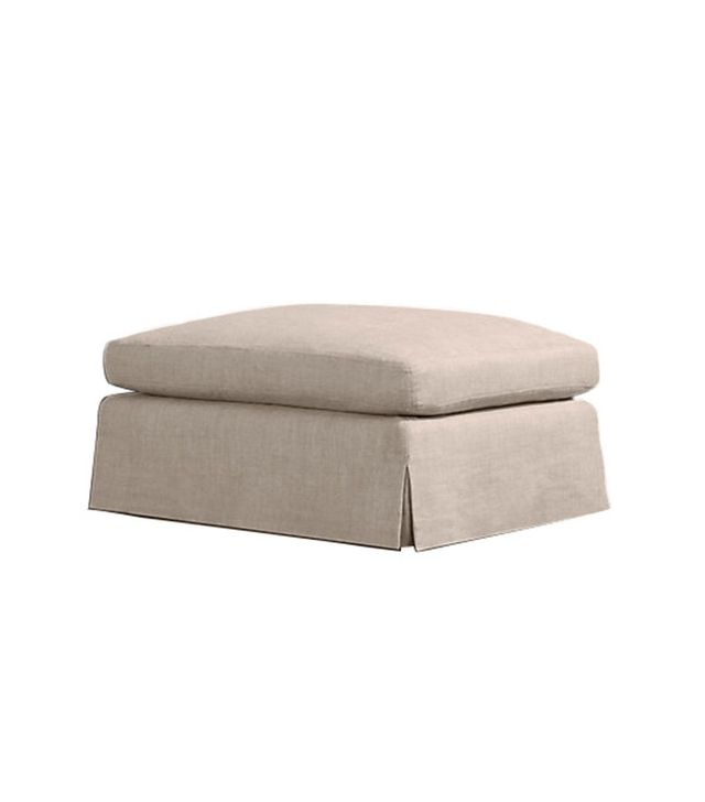 Restoration Hardware Belgian Roll Arm Slipcovered Ottoman