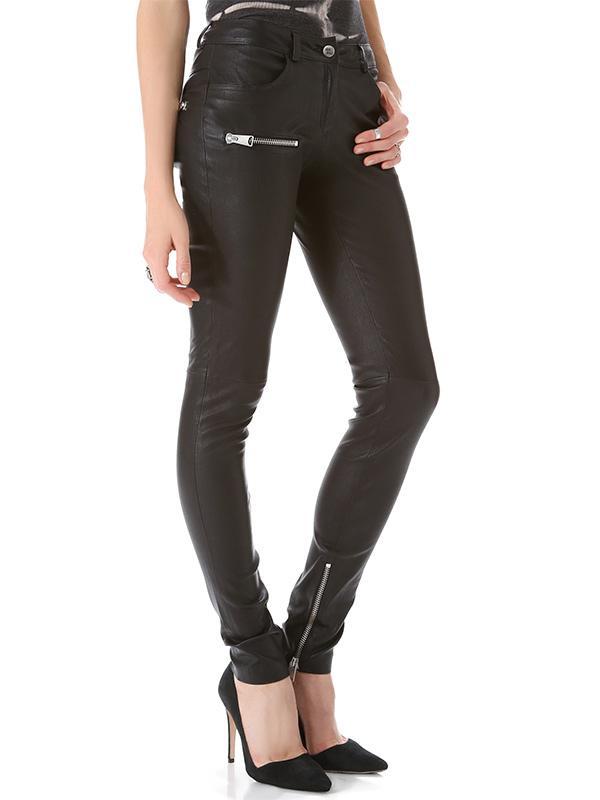 Anine Bing Stretch Leather Skinny Pants
