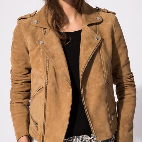 Basalta Biker Style Goatskin Leather Jacket