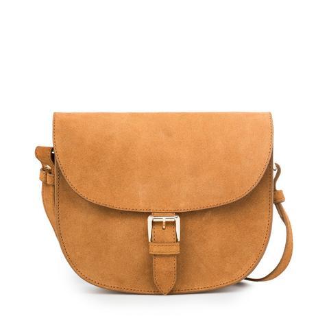 Buckle Suede Bag