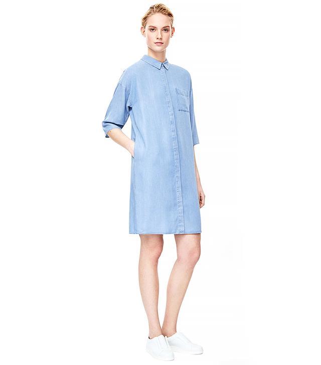 COS Denim-Look Shirt Dress