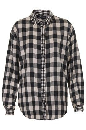 Topshop  Mix and Match Oversize Check Shirt