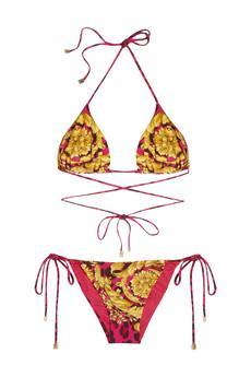 Versace  Printed Triangle Bikini