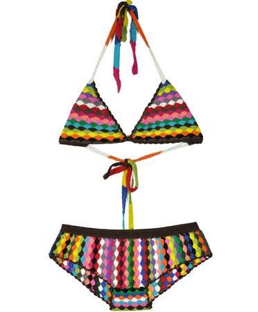 Shakuhachi  Psychedelic Crochet Bikini